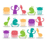Creatures. Pack of Cute Smile Creatures royalty free illustration
