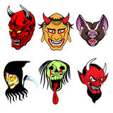 6 creatures of ghost Royalty Free Stock Images