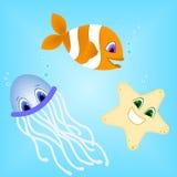 creatures sea 皇族释放例证