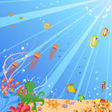 Creatures of the seas royalty free illustration