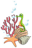 Creatures under the sea Stock Images