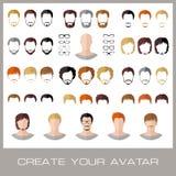 Creazione degli avatar di un maschio di modo Fotografia Stock