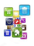 Creazione del App mobile Fotografie Stock