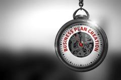 Creazione del business plan sull'orologio da tasca illustrazione 3D Immagine Stock