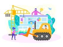 Creazione del sito Web, ottimizzazione di SEO, configurazione del motore di ricerca immagini stock