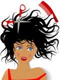 Creazione dell'hairdress illustrazione di stock