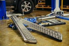 Creazione di flusso di lavoro del cacciavite del trapano delle parti di metallo Immagini Stock
