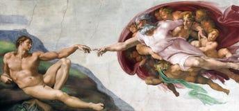 Creazione di Michelangelo Fotografie Stock
