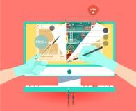 Creazione enorme del sito Web illustrazione di stock