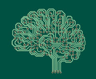 Cérebro eletrônico Fotografia de Stock Royalty Free