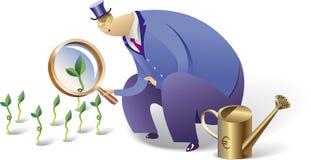 Crecer inversiones stock de ilustración