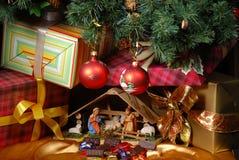 Creche för jul Arkivfoton