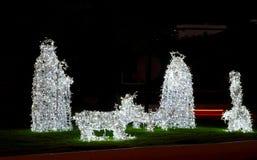 Creche of lights stock photos