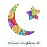 Creciente temático y estrella del Ramadán