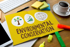 Crecimiento ambiental P de la protección de la preservación de la vida de la protección Fotos de archivo libres de regalías
