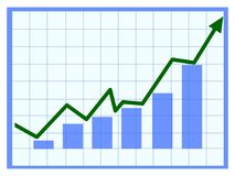 Crecimiento chart Foto de archivo libre de regalías