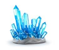Crecimiento de cristales. Aislado en blanco libre illustration