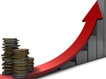 Crecimiento de dinero Foto de archivo libre de regalías