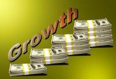 Crecimiento de dinero (pilas) ilustración del vector