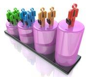 Crecimiento de la carrera, desarrollo de carrera, adelanto de la carrera Imágenes de archivo libres de regalías