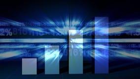 Crecimiento de la carta de barra y datos del mercado de acción libre illustration