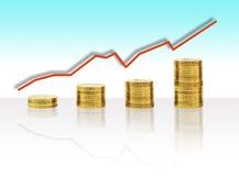 Crecimiento de la economía stock de ilustración