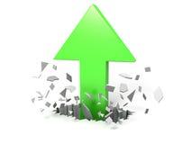 Crecimiento de la flecha Foto de archivo libre de regalías
