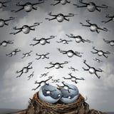 Crecimiento de la industria del abejón stock de ilustración