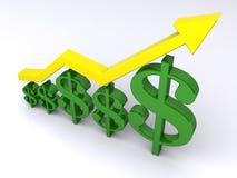 Crecimiento de las finanzas Foto de archivo libre de regalías
