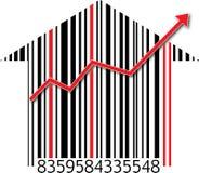 Crecimiento de las propiedades inmobiliarias Imagen de archivo