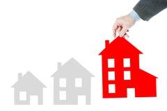 Crecimiento de las ventas de las propiedades inmobiliarias foto de archivo libre de regalías