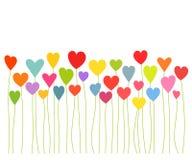 Crecimiento de los corazones stock de ilustración