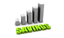 Crecimiento de sus ahorros Imagen de archivo