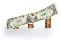 Crecimiento de tarifa del cambio del Dólar Foto de archivo libre de regalías