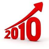 Crecimiento del año 2010 Fotografía de archivo libre de regalías