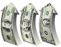 Crecimiento del dólar ilustración del vector