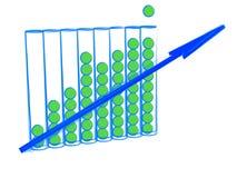 Crecimiento del gráfico de asunto Fotografía de archivo libre de regalías