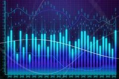 Crecimiento del mercado, finanzas y concepto del comercio stock de ilustración