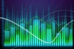 Crecimiento del mercado, finanzas y concepto de la tecnología libre illustration