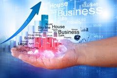 Crecimiento del negocio de las propiedades inmobiliarias libre illustration
