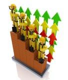 Crecimiento en el sector de la construcción - profesor del progreso de productividad Foto de archivo libre de regalías