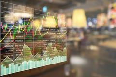 Crecimiento financiero común de los datos económicos del índice fotos de archivo libres de regalías