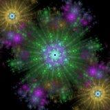 Crecimiento simétrico de bacterias Imágenes de archivo libres de regalías