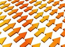 Crecimiento y progreso abstractos anaranjados libre illustration
