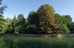 Crecy la chapelle village in ÃŽle de France royalty free stock image