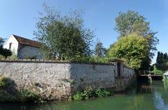 Crecy la chapelle village in ÃŽle de France royalty free stock photography