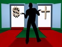Credenza o soldi? Fotografia Stock Libera da Diritti