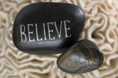 Credi creano le pietre della stazione termale Fotografie Stock Libere da Diritti