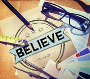 Credi il concetto di culto di religione di ispirazione di speranza Immagine Stock Libera da Diritti