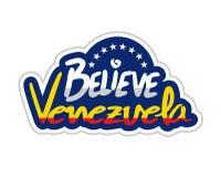 Credi il messaggio del Venezuela Fotografie Stock
